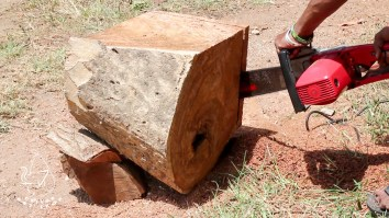cutting wood for handicrafts