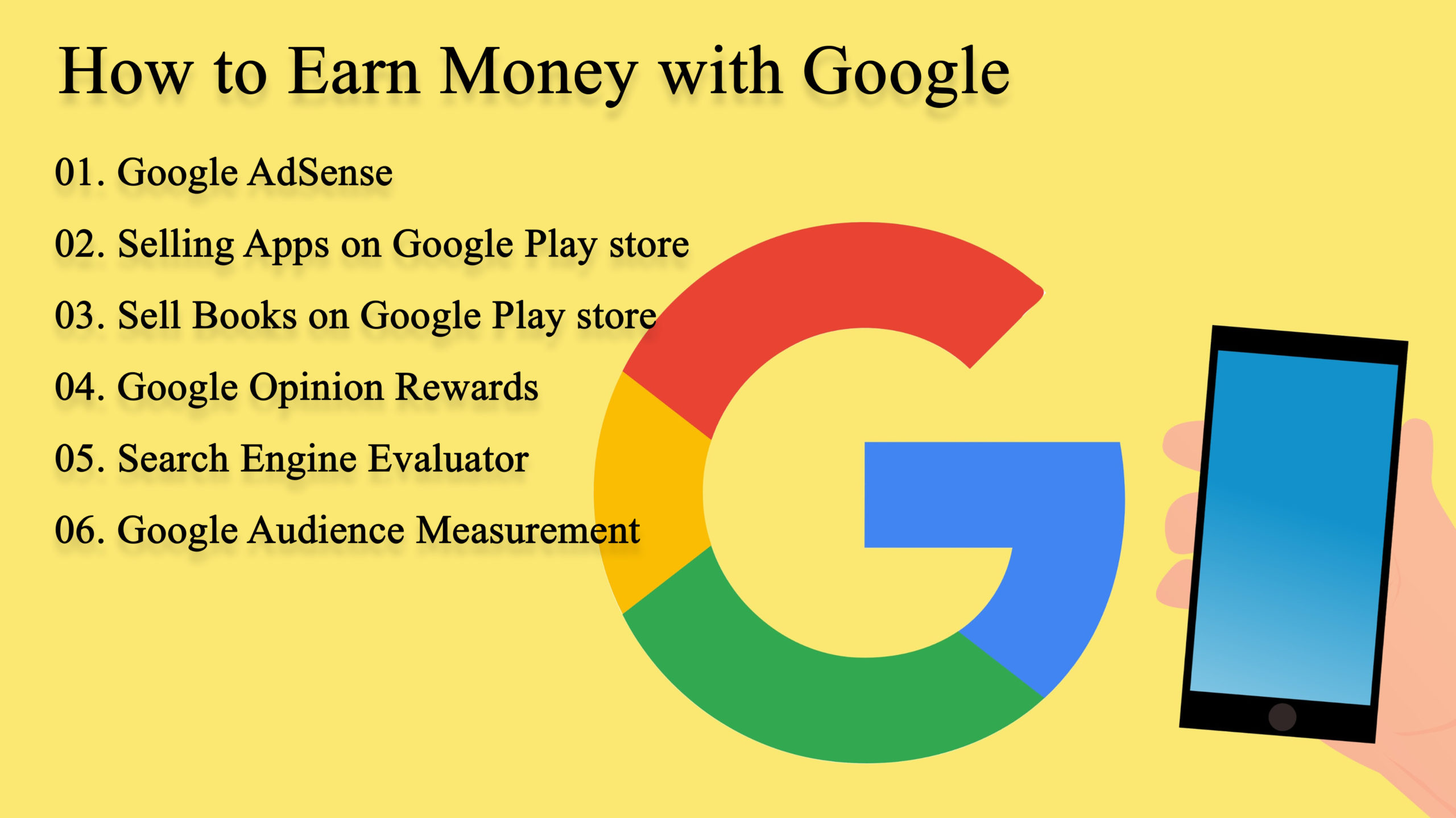 Make Money Online With Google (2020 March)