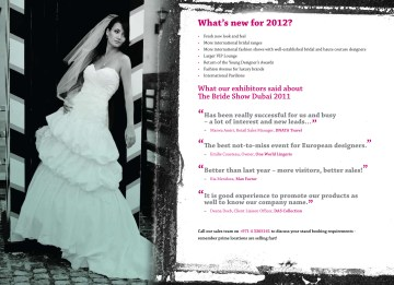 Bride Show Abu Dhabi and Dubai 2012 Sales Brochure Page9