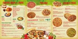 Pizza Inn Menu Inside Spread