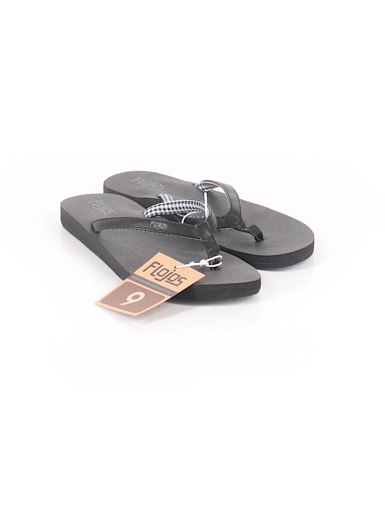 6f82259cc32 Hairy Pin It Flojos Women Flip Flops Size Flojos Solid Black Flip ...