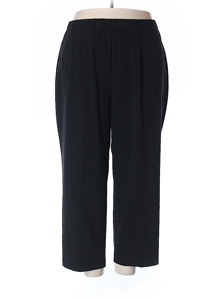 Sag Harbor Solid Black Dress Pants Size 22W Plus 60