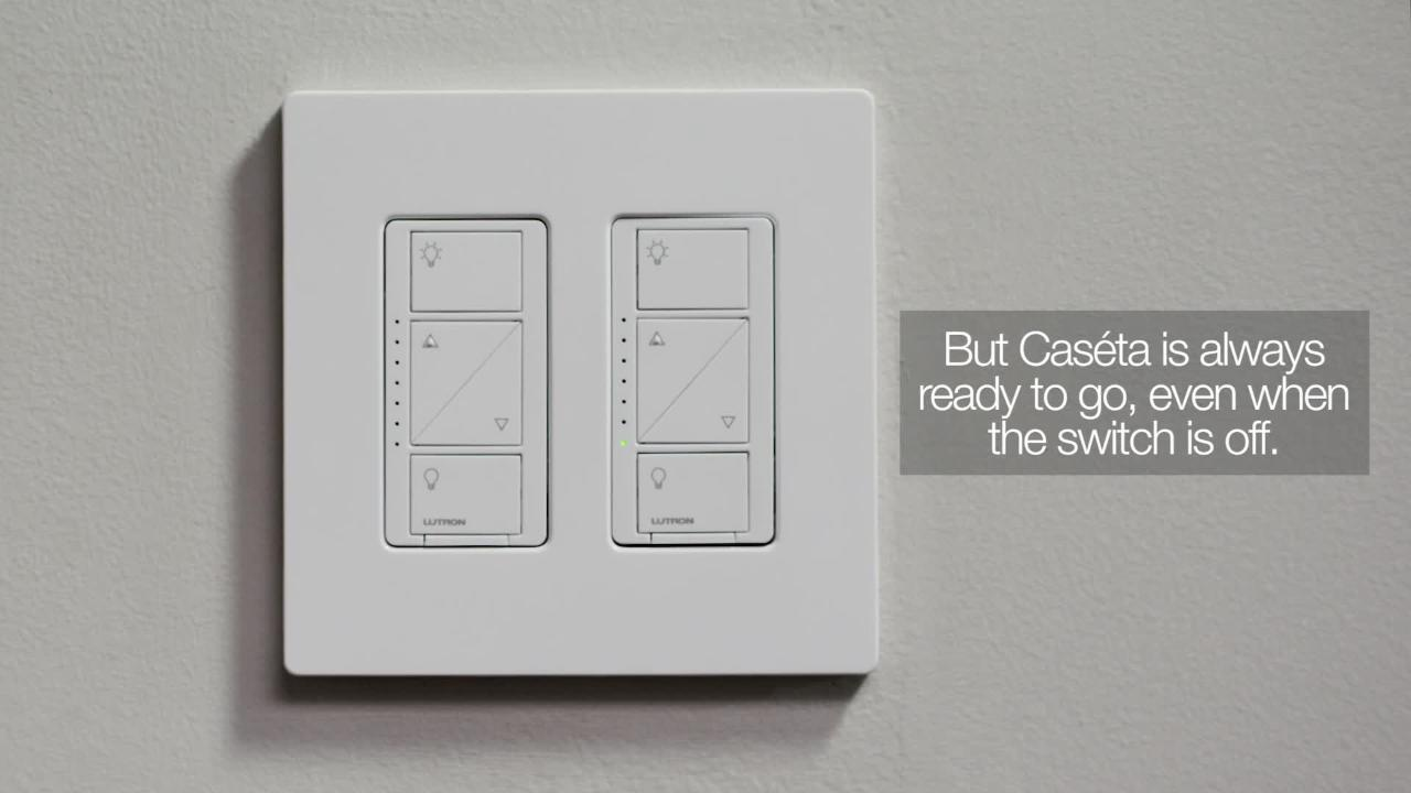 caseta wireless smart lighting dimmer switch and remote kit for wall and ceiling lights white