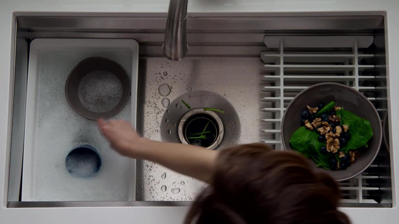 prolific workstation undermount stainless steel 33 in single bowl kitchen sink kit with accessories