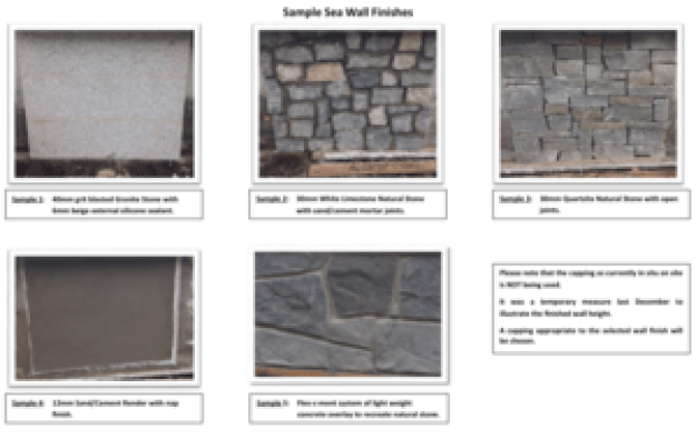 sea wall finishes