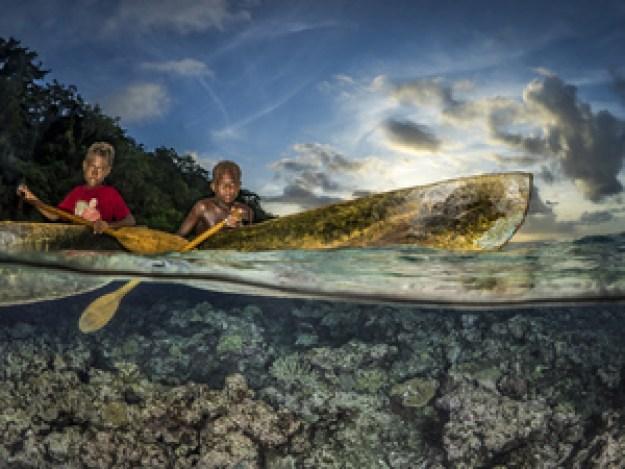 Walking on water. The Solomon Islands bt Pier Mane