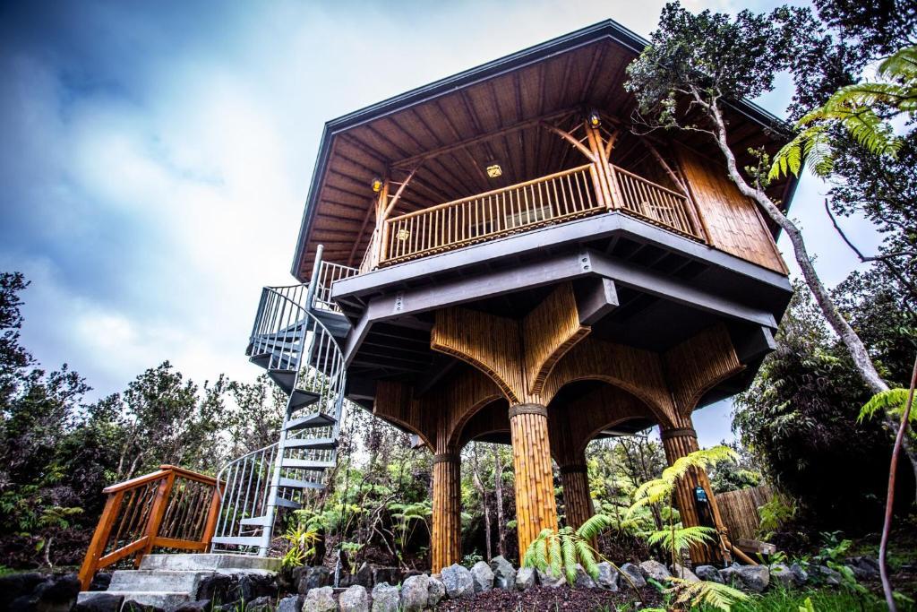 Apartment Big Island Bamboo Treehouse Volcano Hi Booking Com