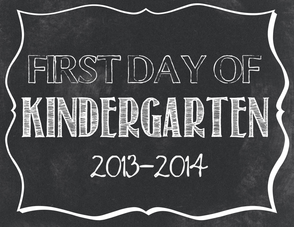 First Day Of School Free Printables Preschool 12th Grade