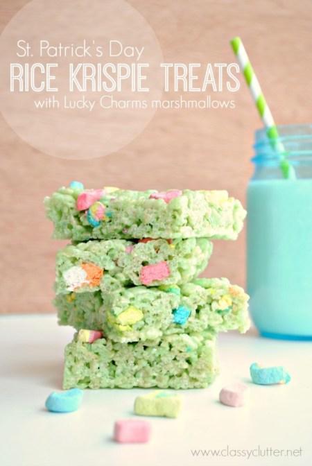 Luck Charm rice krispie treats
