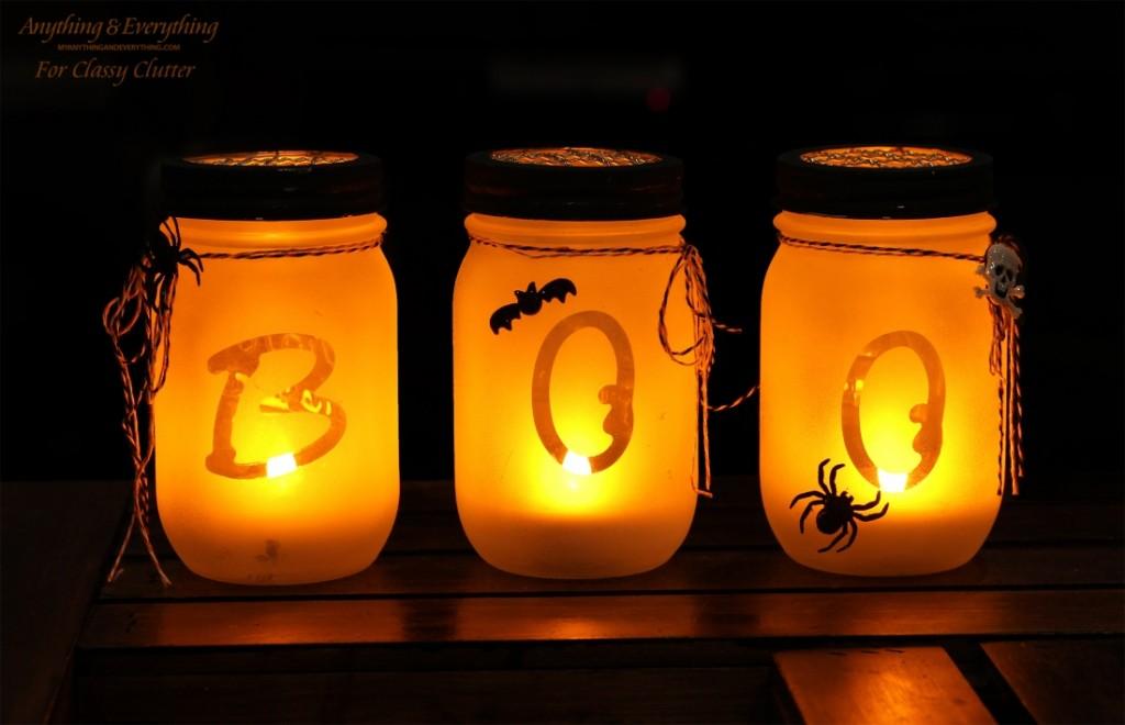 Mason Jar Luminaries, by Classy Clutter DIY Meets Design