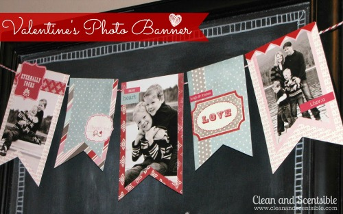 Photo Banner And Valentine's Day Chalkboard