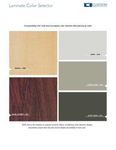 Laminate Color Selector
