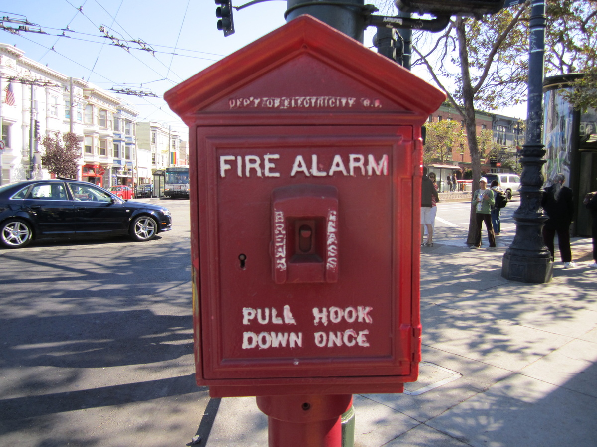 Police Telephone And Fire Alarm Call Boxes Circa