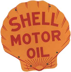 Shell Petroleum Co. sign by Tennesee Enamel Manufacturing Co. Nashville, 1931
