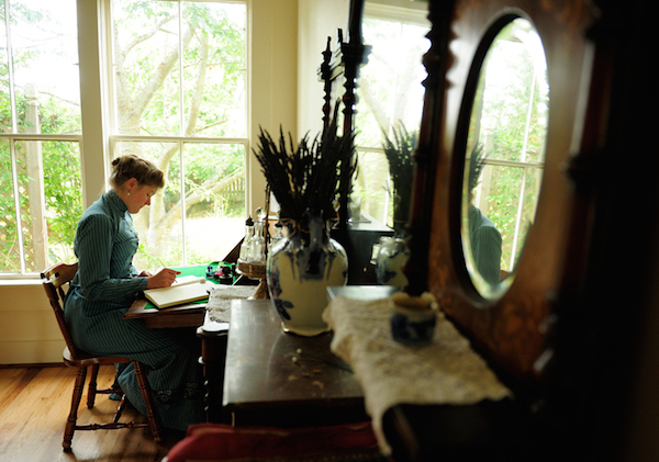 Sarah writes her books in script, using a fountain pen and paper, before typing her work for her publisher. (Photo courtesy Estar Hyo-Gyung Choi, Mary Studio, via ThisVictorianLife.com)