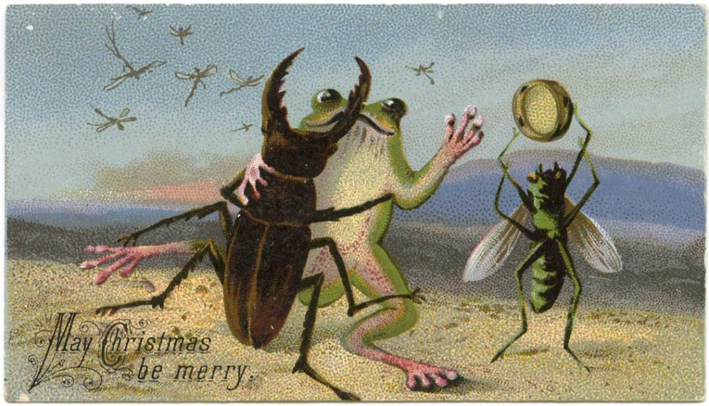 The War On Christmas Cards Dead Robins Used Paperclips