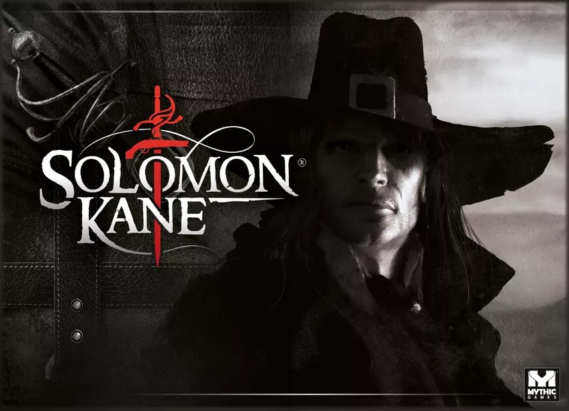 Solomon Kane, Mythic Games, 2019 — front cover (image provided by the publisher)