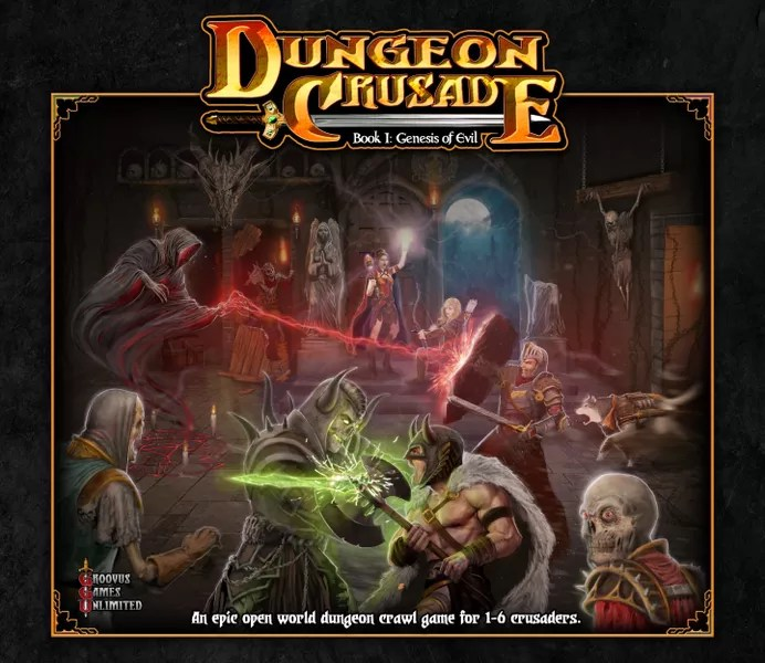 Front cover art for Dungeon Crusade