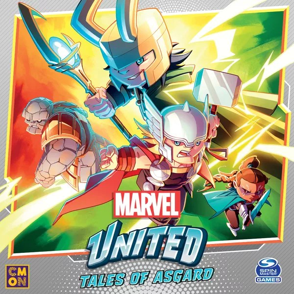 Marvel United: Tales of Asgard, CMON Limited / Spin Master Ltd., 2021 — front cover (image provided by the publisher)