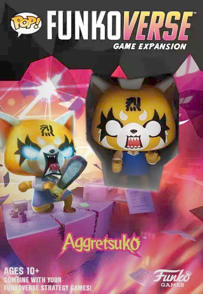 Funkoverse Strategy Game Expansions: Aggretsuko, Funko Games, 2020 — front cover