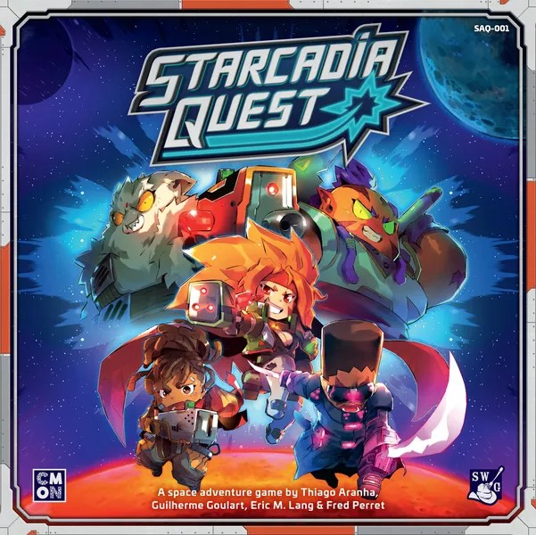 Starcadia Quest, CMON Limited/Spaghetti Western Games, 2019 — front cover (image provided by the publisher)