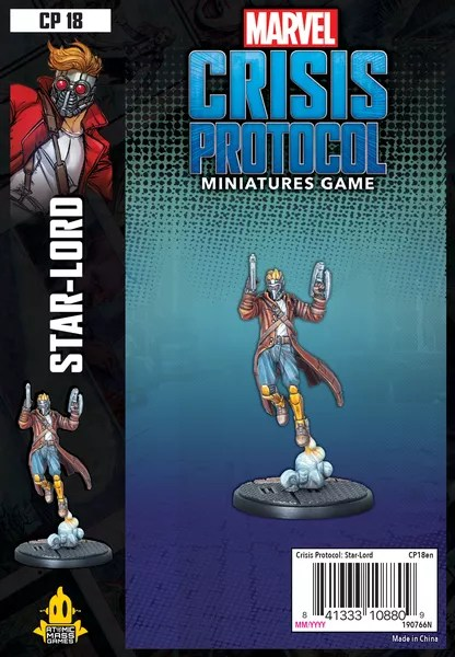 Marvel: Crisis Protocol – Star-Lord, Atomic Mass Games, 2020 — front cover (image provided by the publisher)