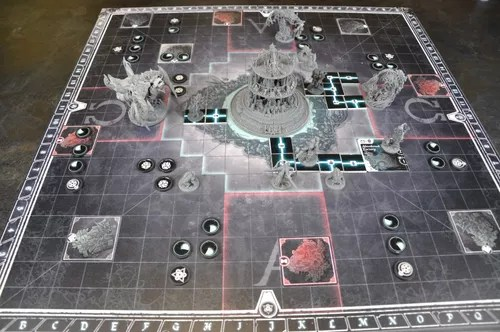 sheol board with some miniatures
