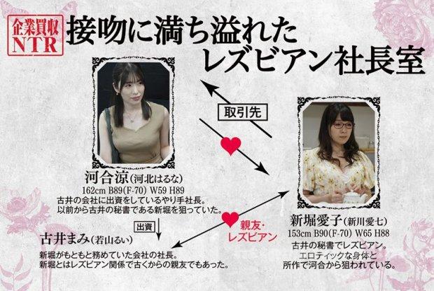 [HD][BBAN-298] 企業買収NTR 接吻に満ち溢れたレズビアン社長室 河北はるな 新川愛七