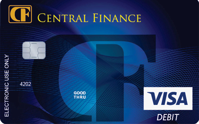 Central Finance Visa debit card offers