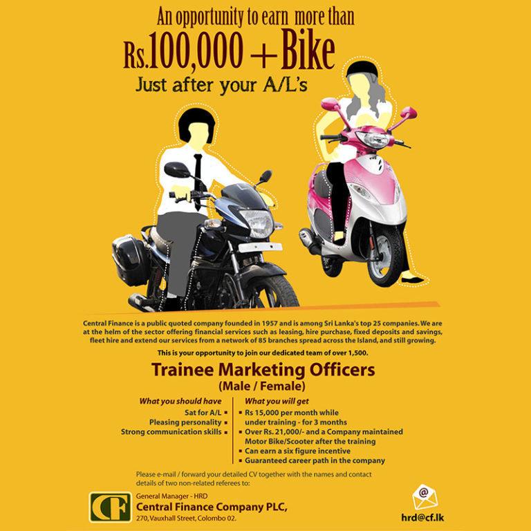 CF trainee marketing officers