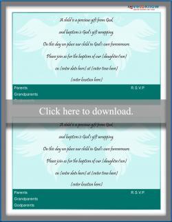 baptism invitation wording lovetoknow