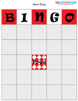 Bingo Game Board Template LoveToKnow