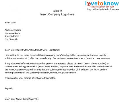 gym membership cancellation letter template Letter – Gym Contract Template