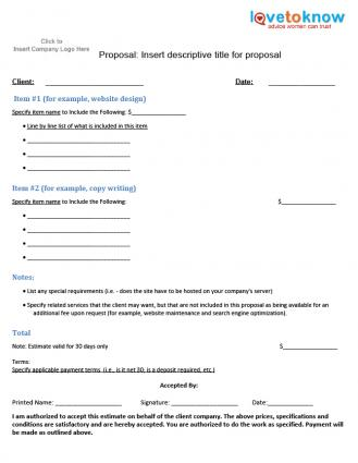Simple Proposal Template. format format of tender. simple project ...