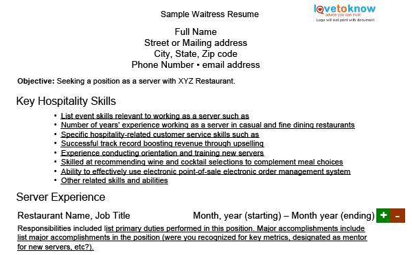 Cocktail Serving Resume. Serving Resume Skills Serving Resume