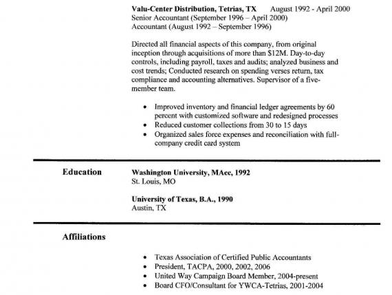 undergraduate accounting resume samples intern resume example