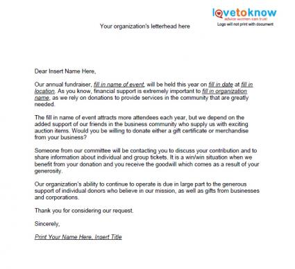 letters of request format business request letter format sample – Charity Proposal