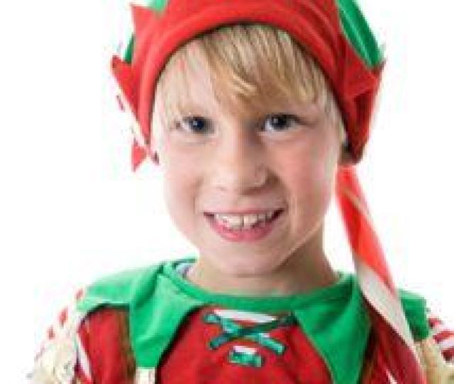 Boy In Elf Costume