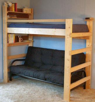 "College Bed Lofts XXL 84"" Futon Loft Bed"