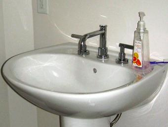 replacing a bathroom sink faucet