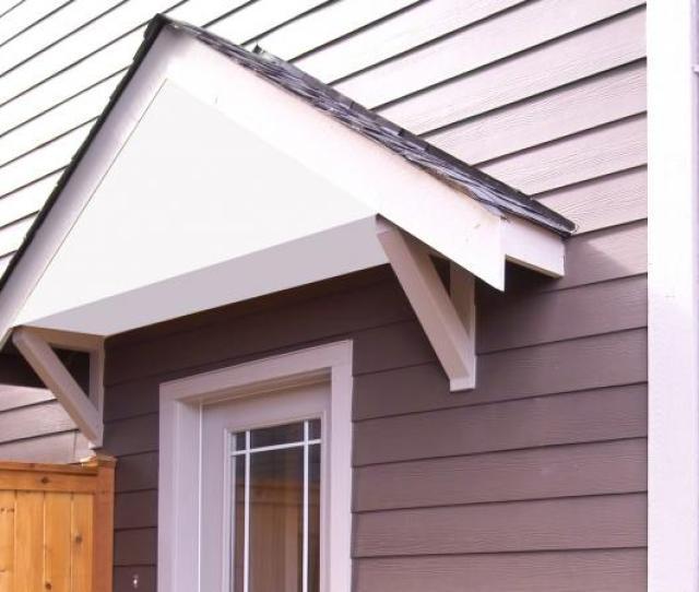 Wood Awning Overhanging Front Door