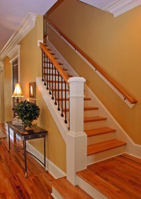 Installing Hardwood Stair Treads Lovetoknow | Installing Wood Floors On Stairs | Stair Tread | Stair Nosing | Carpeted Stairs | Vinyl Plank | Carpet