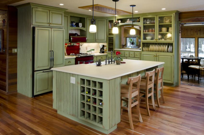 Best Kitchen Colors Gallery   LoveToKnow Green kitchen
