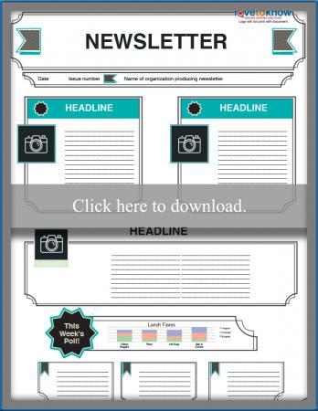 Free Editable Kids Newsletter Templates Lovetoknow