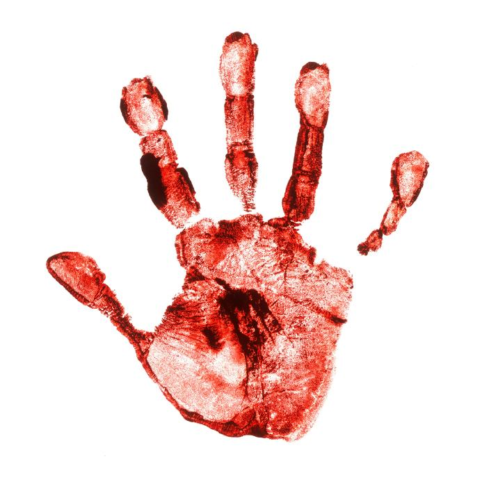 Image result for scary hand print