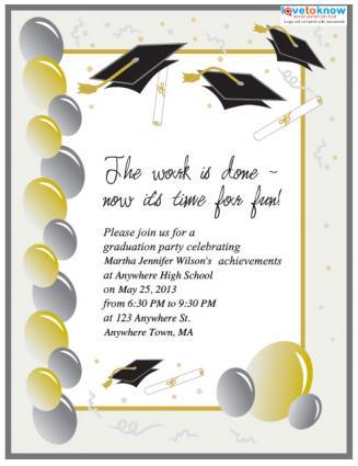 Free Printable Graduation Invitations Lovetoknow