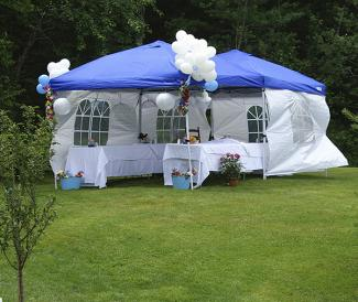 Backyard Party Decorating Ideas Backyard party tent with decorations
