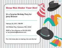 surprise birthday party invitation