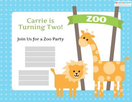 Design an innovative invitation card for opening of a zoo zoo birthday invitation templates invitations stopboris Choice Image