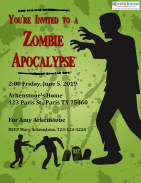 Zombie Party Invitations Lovetoknow